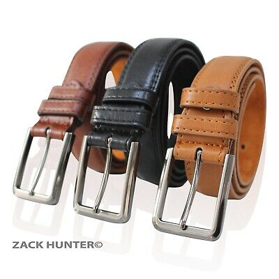 "Childrens Leather Belts 1.25"" Wide Belt Kids Belt Boys Belts Grain Effect Mb108"