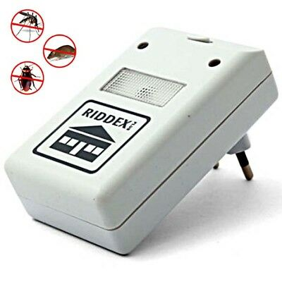 Pest Repellent Repelling Aid for Rodents Roaches Ants Spiders EU Plug Ultrasonic
