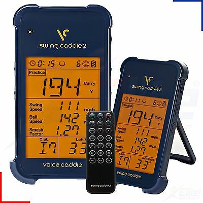 Voice Swing Caddie SC200 Pro Portable Golf Launch Monitor Training Aid - Navy