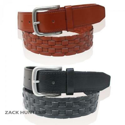 """New Ladies Real Leather Belts Girls 1.5"""" Wide Braided Style Belts Lb02"""