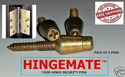 Hingemate 3 Pack Door Hinge Mate Security Pins Stud Screw Comm/residential Kit
