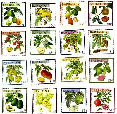 BARBADOS STAMP 2011 LOCAL FRUITS 16v. MNH