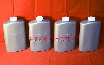 Lot of 4 Genuine US Military 1-Pint Plastic Pilot Flask / Canteen Silver NEW