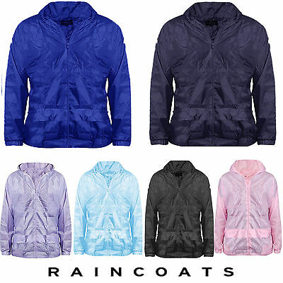 New Childrens Waterproof Jacket Kagool Kids Boys Girls Childs Raincoat Mac Size
