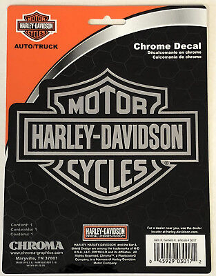 Harley-Davidson Bar & Shield Chrome Classic Graphix Sticker Decal NEW