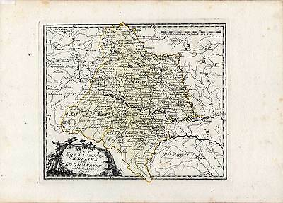 UKRAINE-Galizien-Lodomerien-Galicja - Kupferstich-Karte-Map Reilly 1789