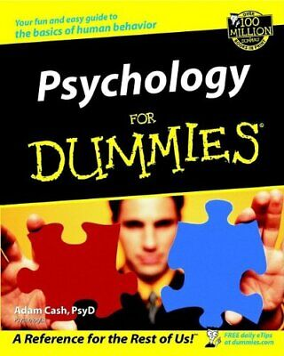 Psychology for Dummies by Cash, Adam Paperback Book The Cheap Fast Free Post