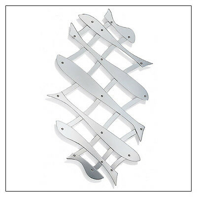 Alessi Pescher Stainless Steel, Extensible Trivet - Fish Pattern, by Alessi