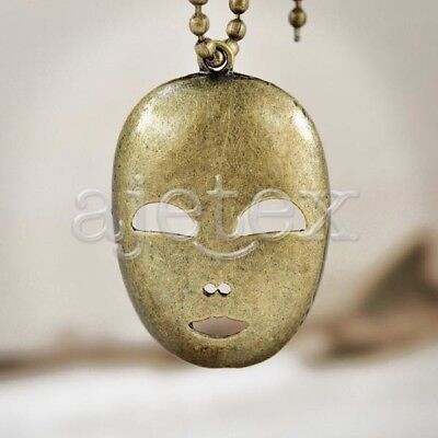 5 Mask Pendants vintage Antique Brass wholesale TS7414