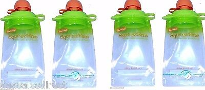 4pk Fresh Baby Reusable Food Pouch Refillable Homemade Foods Recyclable BPA Free