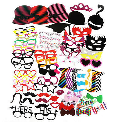 76pcs DIY Masks Photo Booth Props Mustache On A Stick Wedding Birthday Party