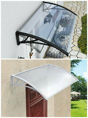 Door Canopy Opaque Corrugated Awning Shelter Roof Front Back Porch Outdoor Shade