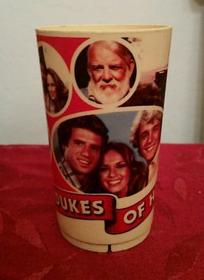 """Vintage The Dukes of Hazzard 5"""" plastic cup 1981"""