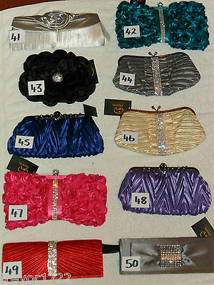 Wholesale Clearance 50 Mixed Joblot Prom Wedding Huge Handbags Clutch Bags Bnwt
