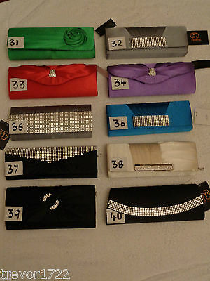 Wholesale Clearance 20 Mixed Joblot Prom Wedding Huge Handbags Clutch Bags Bnwt