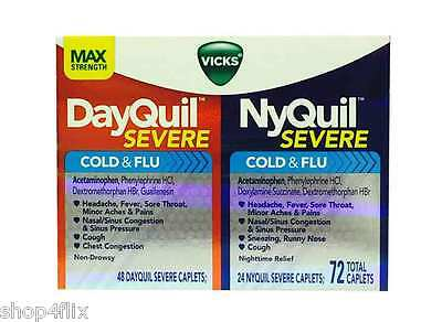 Vicks NyQuil Severe Cold & Flu and DayQuil Severe Cold & Flu 72 Total Caplets