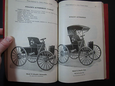 RARE Large 1907 CATALOG - Schacht Automobile - Polson Wagon Implement Company