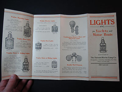 RARE 1920s Brochure CATALOG Lights Lighting for Yachts Motor Boats Marine Lamp