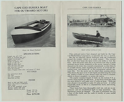 RARE - 1927 Advertising Trade CATALOG - Cape Cod Boats for Outboard Motors