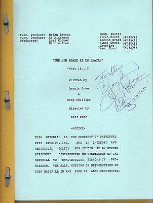 Jerry Mathers - New Leave It To Beaver Script Autograph Signed -12-1998