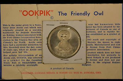 1963 Canada Ookpik The Friendly Owl Medal Token