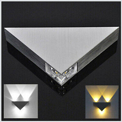 Day White Modern 3W Wall Light Up & Down LED Sconce Lighting Lamp Indoor Outdoor