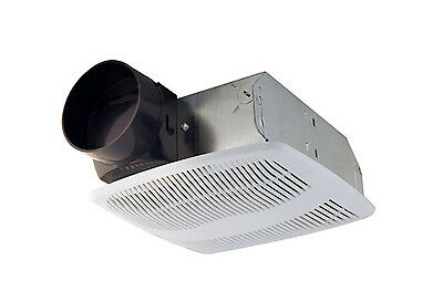 """Air King Low Profile Quiet Bathroom Wall Ceiling Ventilation Exhaust Fan 4"""" Duct"""