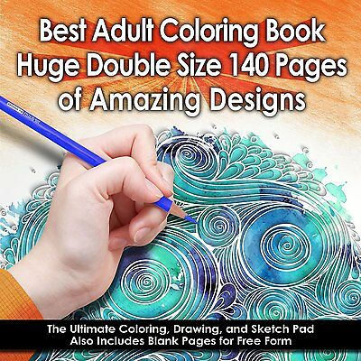 Best Adult Coloring Book (Double Size) - 140 Pages by Best Adult Coloring Book
