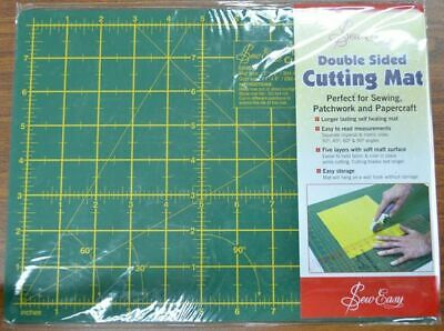 Sew Easy Double Sided Cutting Mat 304 x 228mm, Long Lasting Self Healing