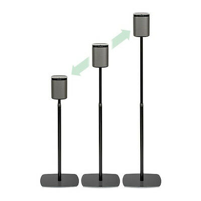 Flexson FLXP1AS2021 Height Adjustable Floor stand for SONOS PLAY 1 (Pair) Black