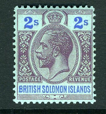 BRITISH SOLOMON ISLANDS-1927 2/- Purple & Blue/Blue Sg 49 LIGHTLY MOUNTED MINT