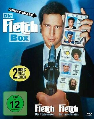Blu-ray * Die Fletch Box - Fletch 1+2 (Collector's Edition) * NEU * Chevy Chase