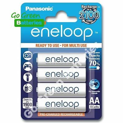 4 x Panasonic eneloop AA 1900 mAh Rechargeable Batteries ready to use NiMH, HR6