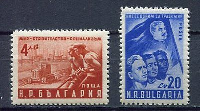 37608) BULGARIA 1950 MNH** Peace Conference, Stalin 2v