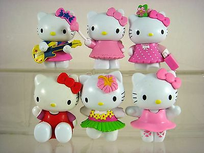 6 pcs Figures Cake toppers Decorating Birthday Toy For Hello Kitty SET + Pendant