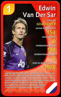 cd01f6e995f Edwin Van Der Sar - Manchester United 2011 - Top Trumps Card (C120)