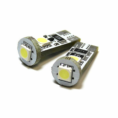 2x VW Caddy MK2 Bright Xenon White 3SMD LED Canbus Number Plate Light Bulbs