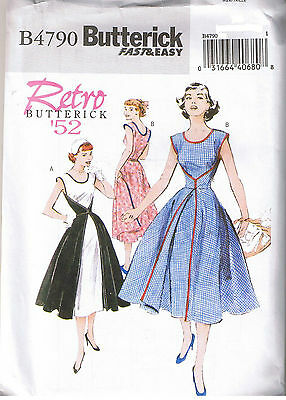 Easy Vintage 50s Retro Wrap Dress Butterick Sewing Pattern Size 8 10 12 14