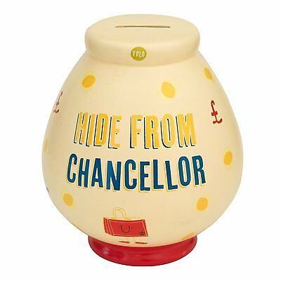 Hide From Chancellor Ceramic Money Pot Piggy Fund Coin Save Bank Break Open 5106