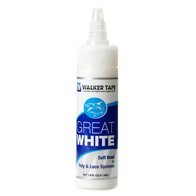 Great White Soft Bond For Poly&lace Maximum Wear Adhesive Glue By Walker 1.4 Oz