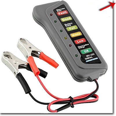 Tester batteria 12 V e dinamo alternatore indicatori LED auto e moto test 12V