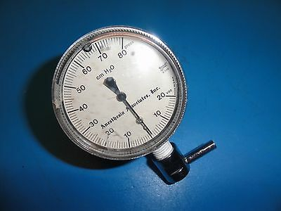 Anesthesia/ H.T.G  91349 AirWay Pressure Gauge W/ Adapter(-20 to+80 CM H2O) 5382