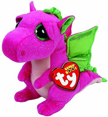 Ty Darla Dragon Plush, Pink, Regular by Ty (37173) Color:Pink  Size:Reg (AOI)