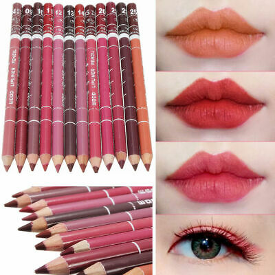 12pcs Lipliner Lippenkontur Make up Wasserdicht Stift 15CM