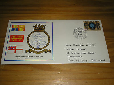 """1977 GB ROYAL NAVY """"Official Cover"""" QUEENS JUBILEE REVIEW OF THE FLEET""""BFPS5277"""""""