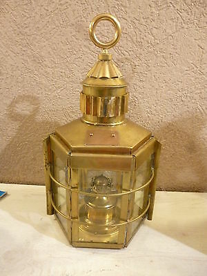 Clipper Ship Lamp* Klipper Lampe* Dumbarton Scotland 1913* Messing