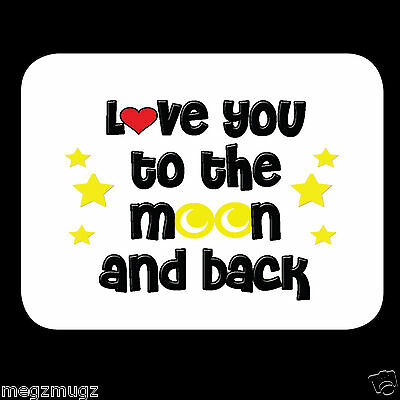Love you to the Moon and Back Fridge Magnet great Valentine's Anniversary gift