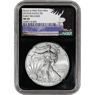 2016-(W) American Silver Eagle - NGC MS69 - Early Releases - Bald Eagle Retro