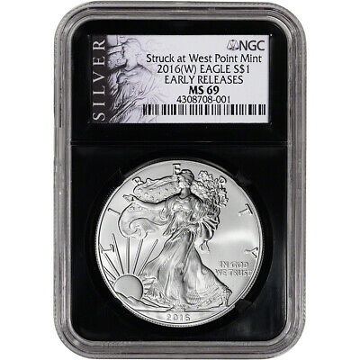 2016-(W) American Silver Eagle - NGC MS69 - Early Releases - ALS Label Retro