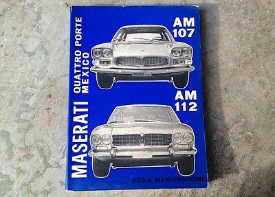 orig.MASERATI QUATROPORTE & MEXICO owners manual  AM 107 - 112 betriebsanleitung